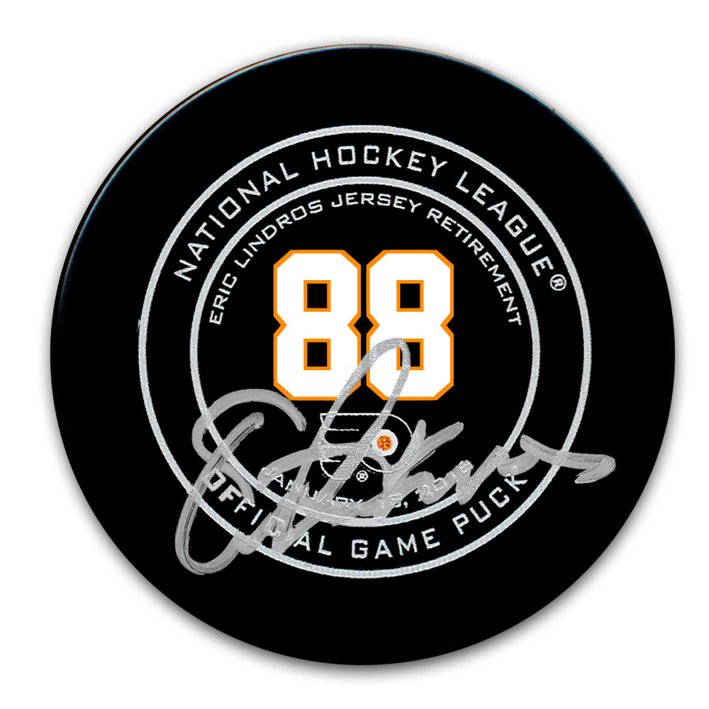 Eric Lindros Philadelphia Flyers Retirement Night Autographed Official Game Puck