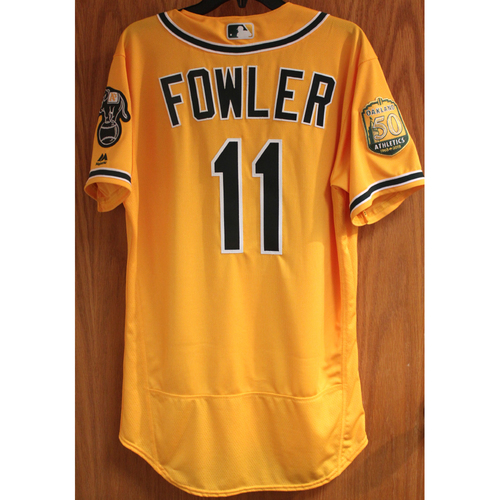 Photo of Dustin Fowler 2018 Game-Used Jersey (1st Career AB)