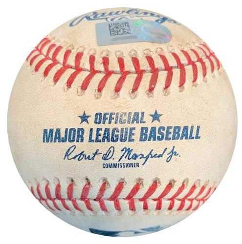 Photo of Game-Used Baseball from Pirates vs. Royals on 9/17/18 - Joe Musgrove Strikeout Pitch