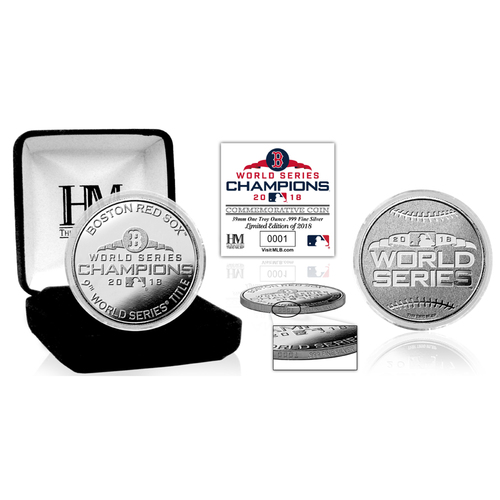 Photo of Boston Red Sox 2018 World Series Champions Pure Silver Mint Coin