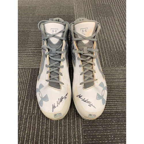 Photo of End of Year Auction - 2018 Autographed Cleats (PAIR) - signed by #51 Mac Williamson - Size 13