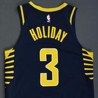 Aaron Holiday - Indiana Pacers - Rookie-Debut - Game-Worn Icon Edition Jersey - 2018-19 Season