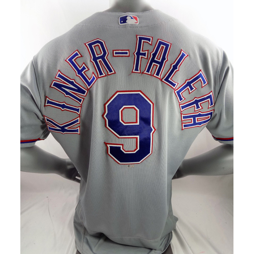 Photo of Game-Used Grey Jersey - Isiah Kiner-Falefa - 4/17/18, 7/28/18