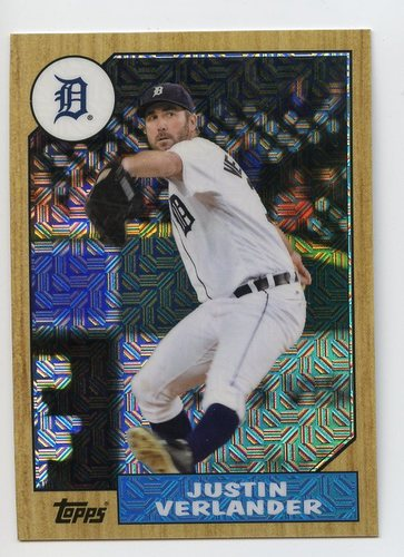 Photo of 2017 Topps '87 Topps Silver Pack Chrome #87JV Justin Verlander S2
