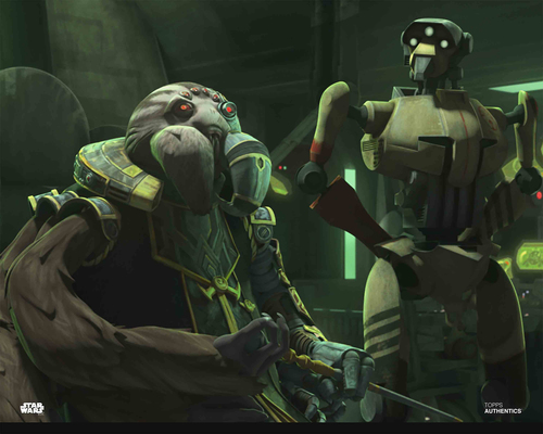 Admiral Trench and Droid