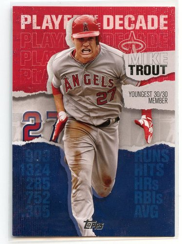 Photo of 2020 Topps Player of the Decade Mike Trout #MT9 Mike Trout