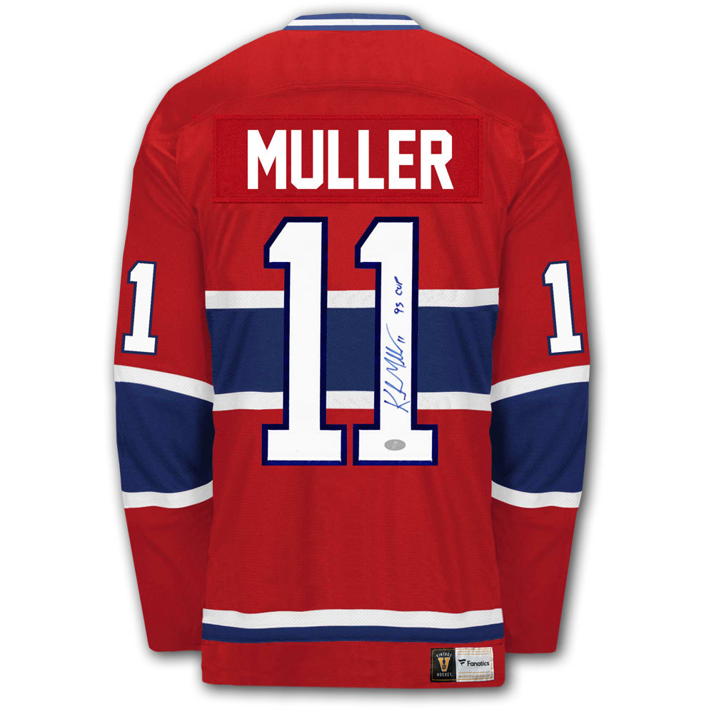 Kirk Muller Montreal Canadiens Vintage Autographed Jersey