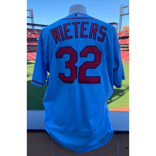 Photo of Cardinals Authentics: Team Issued Matt Wieters Road Alternate Blue Jersey