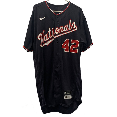 Photo of Erick Fedde - Jackie Robinson Day Autographed Game Worn Jersey - Size 46T
