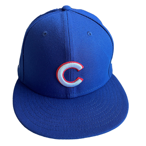Photo of Ian Happ Game-Used Hat -- Size 7 1/8 -- Father's Day -- Marlins vs. Cubs -- 6/20/21