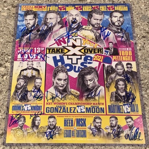 Photo of SIGNED and NUMBERED NXT TakeOver In Your House 2021 Fight Card(Random Number)