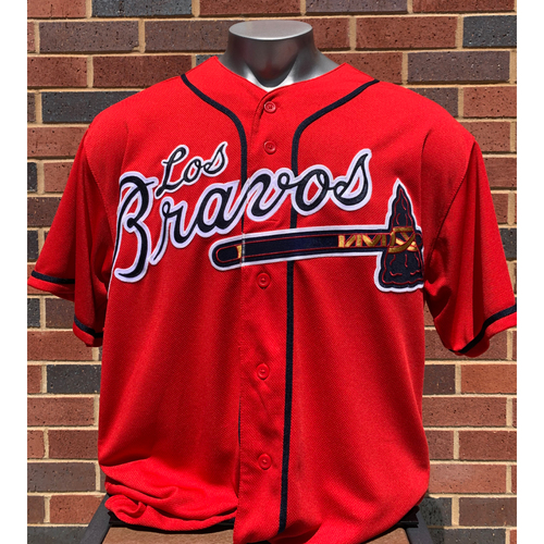 Photo of Kevin Seitzer MLB Authenticated and Game-Used Los Bravos Jersey