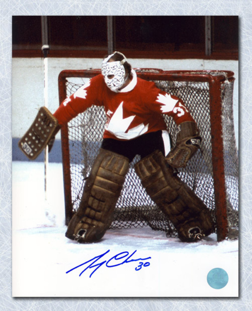 Gerry Cheevers Team Canada Autographed 1976 Canada Cup ...