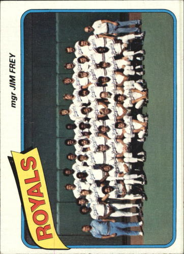 Photo of 1980 Topps #66 Kansas City Royals CL/Jim Frey MG