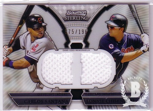 Photo of 2011 Bowman Sterling Dual Relics #SC Carlos Santana/Lonnie Chisenhall