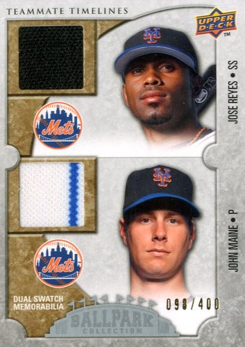 Photo of 2009 Upper Deck Ballpark Collection #141 John Maine/Jose Reyes/400