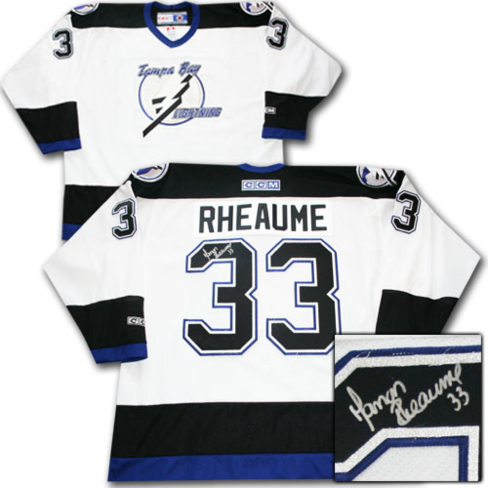 Manon Rheaume Autographed Tampa Bay Lightning Jersey - NHL Auctions e87129f8f43