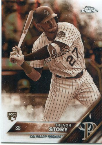 Photo of 2016 Topps Chrome Sepia Refractors #45 Trevor Story