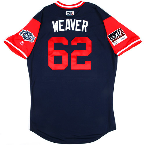 """Photo of St. Louis Cardinals Game-Used Little League Classic Jersey -  Luke """"Weaver"""" Weaver #62"""