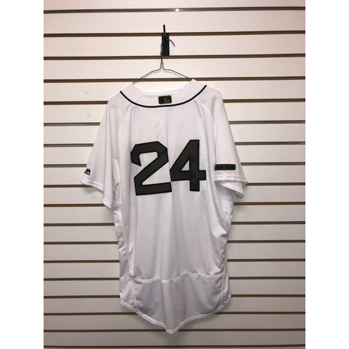 Photo of David Price Game Used May 28, 2018 Memorial Day Home Jersey