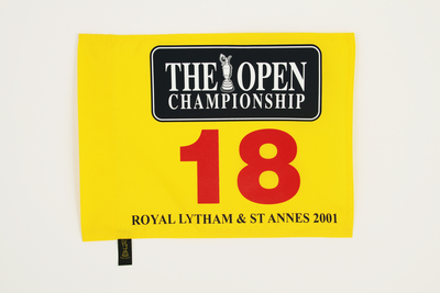 Photo of The Open 2001 Official Souvenir Pin Flag - Royal Lytham & St Annes