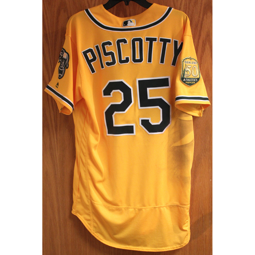 Photo of Stephen Piscotty 2018 Game-Used Jersey