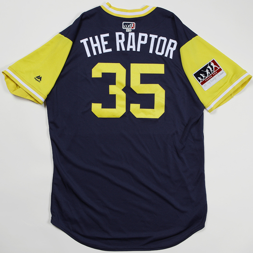 "Photo of Brent ""The Raptor"" Suter Milwaukee Brewers Team Issued Jersey 2018 Players' Weekend Jersey"