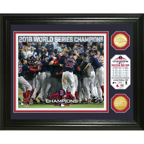 "Photo of Boston Red Sox 2018 World Series Champions ""Celebration"" Bronze Coin Photo Mint"