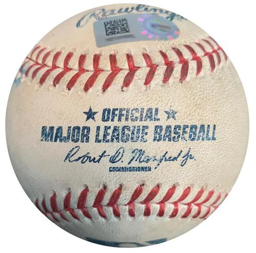 Photo of Game-Used Baseball from Pirates vs. Mets on 6/8/16 - Jameson Taillon MLB Debut