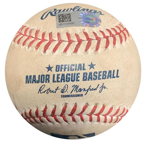Photo of Game-Used Baseball from Pirates vs. Brewers on 7/19/16 - Jordy Mercer Triple