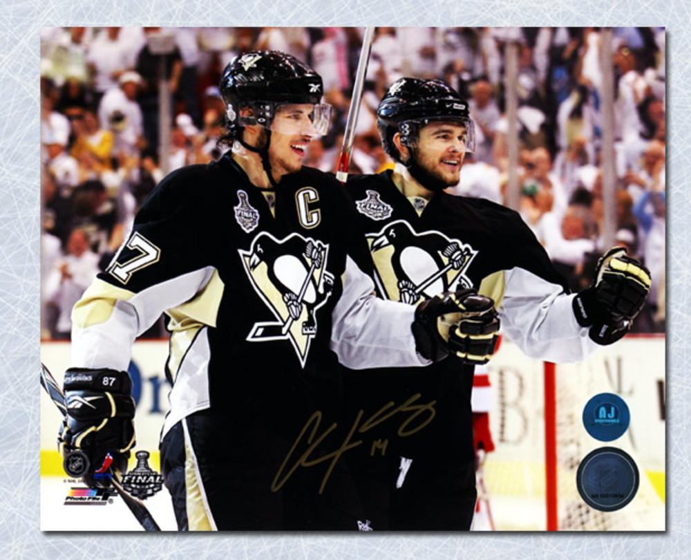 Chris Kunitz Pittsburgh Penguins Autographed Cup Finals W/ Crosby 8x10 Photo
