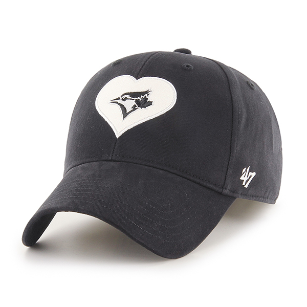 Toronto Blue Jays Youth Dahlia Black Tonal Cap by '47 Brand