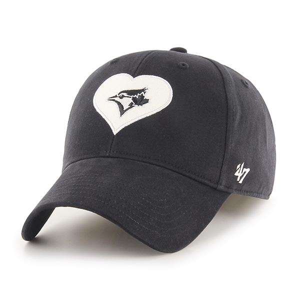 Toronto Blue Jays Youth Dahlia Black Tonal Cap by '47 Brand