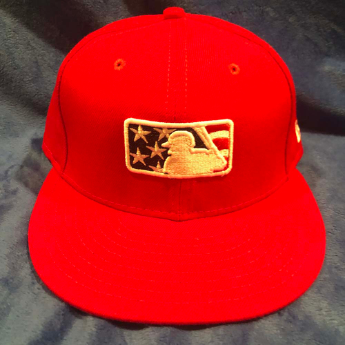 Photo of UMPS CARE AUCTION: MLB Specialty Stars and Stripes Umpire Cap, Red, Size 7 1/4