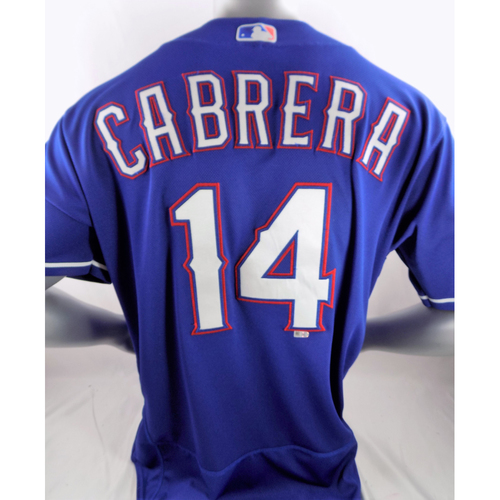 Photo of Game-Used Home Run Blue Jersey - Asdrubal Cabrera - 5/20/19, 5/21/19
