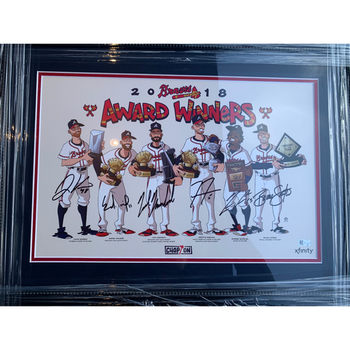 Photo of 2018 Atlanta Braves Award Winners Autographed Photo