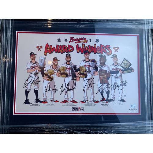 2018 Atlanta Braves Award Winners Autographed Photo