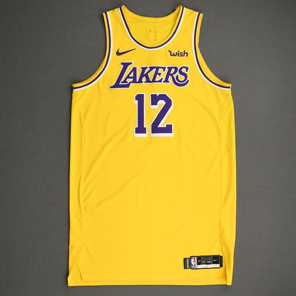 Image of Devontae Cacok - Los Angeles Lakers - NBA China Games - Game-Worn Icon Edition Jersey - 2019-20 NBA Season