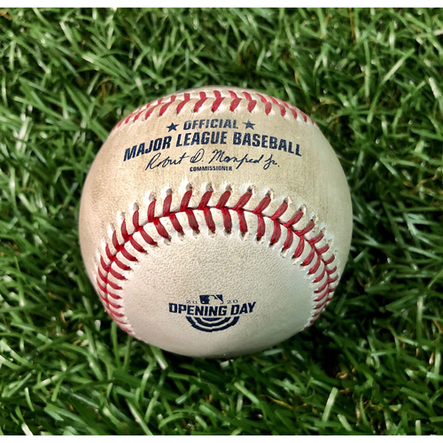 Photo of Game Used Opening Day Baseball: Cavan Biggio 3R HOME RUN (1) off Charlie Morton - First Opening Day Start - July 24, 2020 v TOR