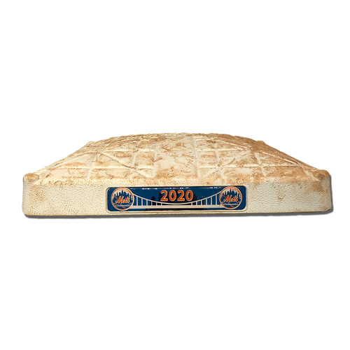 Photo of Game Used Base - 2nd Base, Innings 4-6 - Doubles by Gimenez, Conforto, Davis and Smith - Mets vs. Phillies - 9/7/20