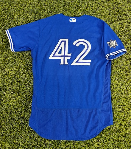 Photo of CHARITY AUCTION: Authenticated Team Issued #42 Jersey: Danny Jansen (2020 Season). Size 46.