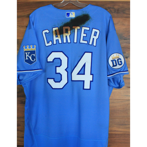 Photo of Alex's Lemonade Stand Foundation: Game-Used Larry Carter Jersey (Size 52 - 9/26/20 DET @ KC)