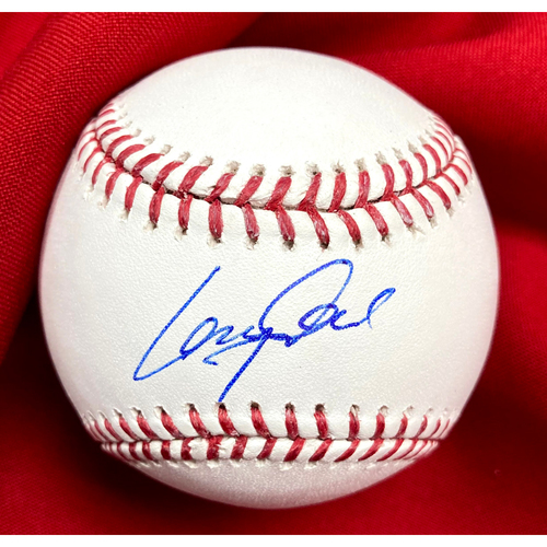 Photo of Lane Thomas Autographed Baseball