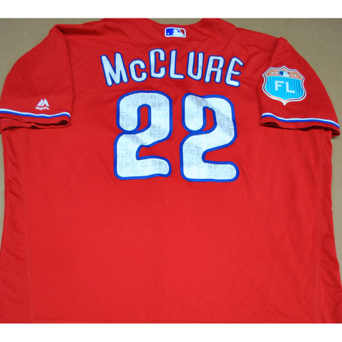 Photo of Game-Used 2016 Spring Training Jersey - John McLure #22 - Size 46 - Philadelphia Phillies