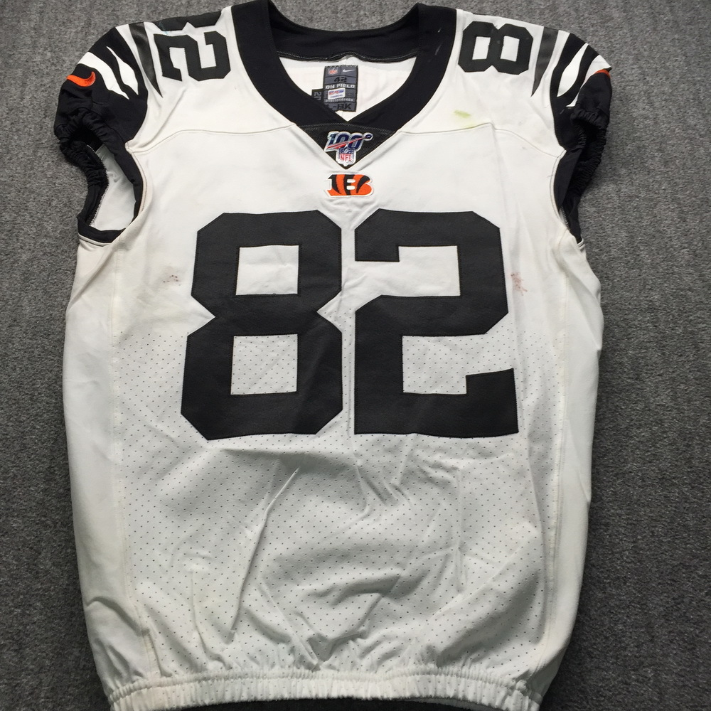 London Games - Bengals Cethan Carter Game Used Jersey (10/27/2019) Size 42