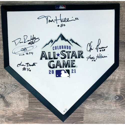 Photo of UMPS CARE AUCTION: 2021 All-Star Game Commemorative Crew Signed Home Plate
