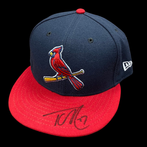 Photo of Tyler O'Neill Autographed Team Issued Alternate Cap (Size 7 1/4)