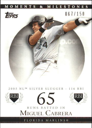 Photo of 2007 Topps Moments and Milestones #110-65 Miguel Cabrera/RBI 65