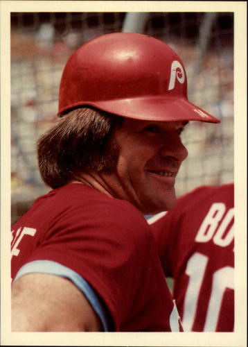 Photo of 1985 Topps Rose #33 Pete Rose/Nervous in first game