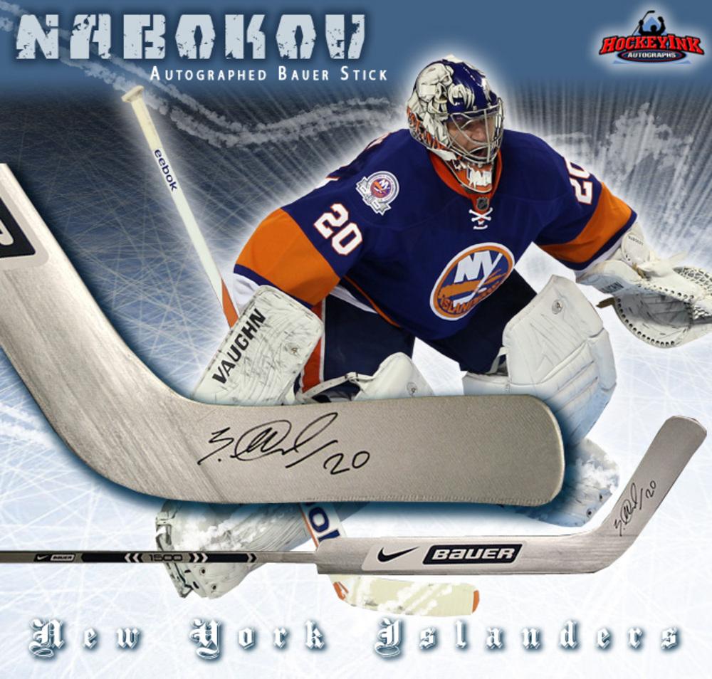 EVGENI NABOKOV Signed Bauer Player Model Stick - New York Islanders